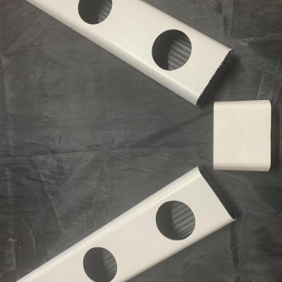 1 metro Perfil Hidropónico PVC Furado de 80 mm com união