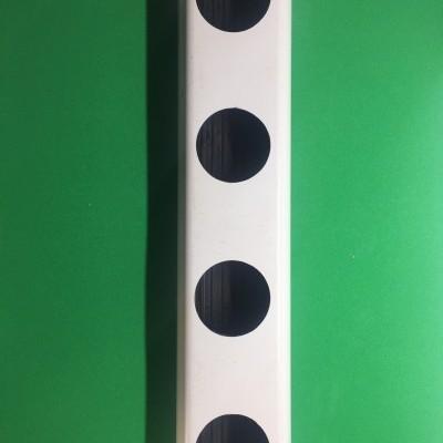 2 metros Perfil Hidropónico Furado de 49 mm com união