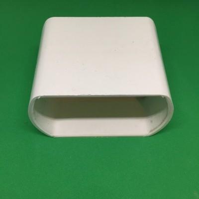 União PVC branco para perfil furado de 80 mm