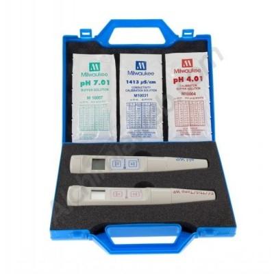 Medidor de pH + Condutividade Elétrica + Temperatura