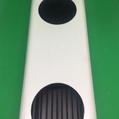 2 metros Perfil Hidropónico PVC Furado de 80 mm com união