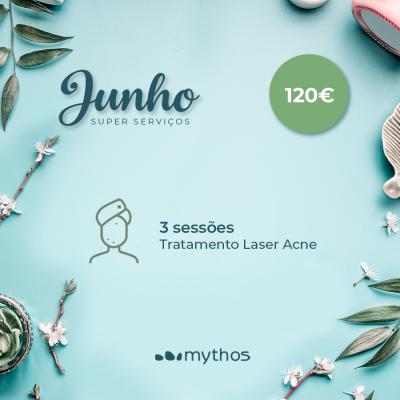 3 Sessões de laser para Acne