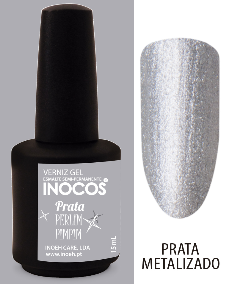 Verniz Gel Inocos - Prata Perlimpimpim (83)