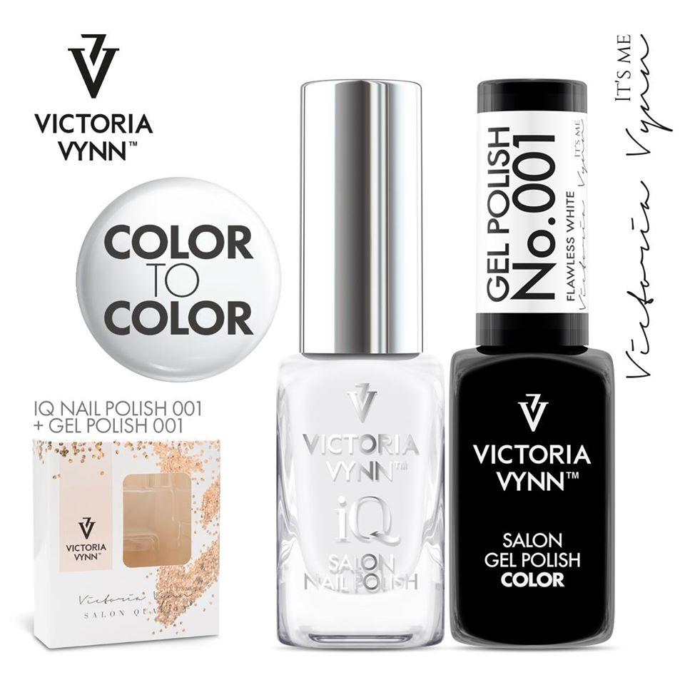 Conjunto Verniz iQ + Verniz Gel Victoria Vynn - 001