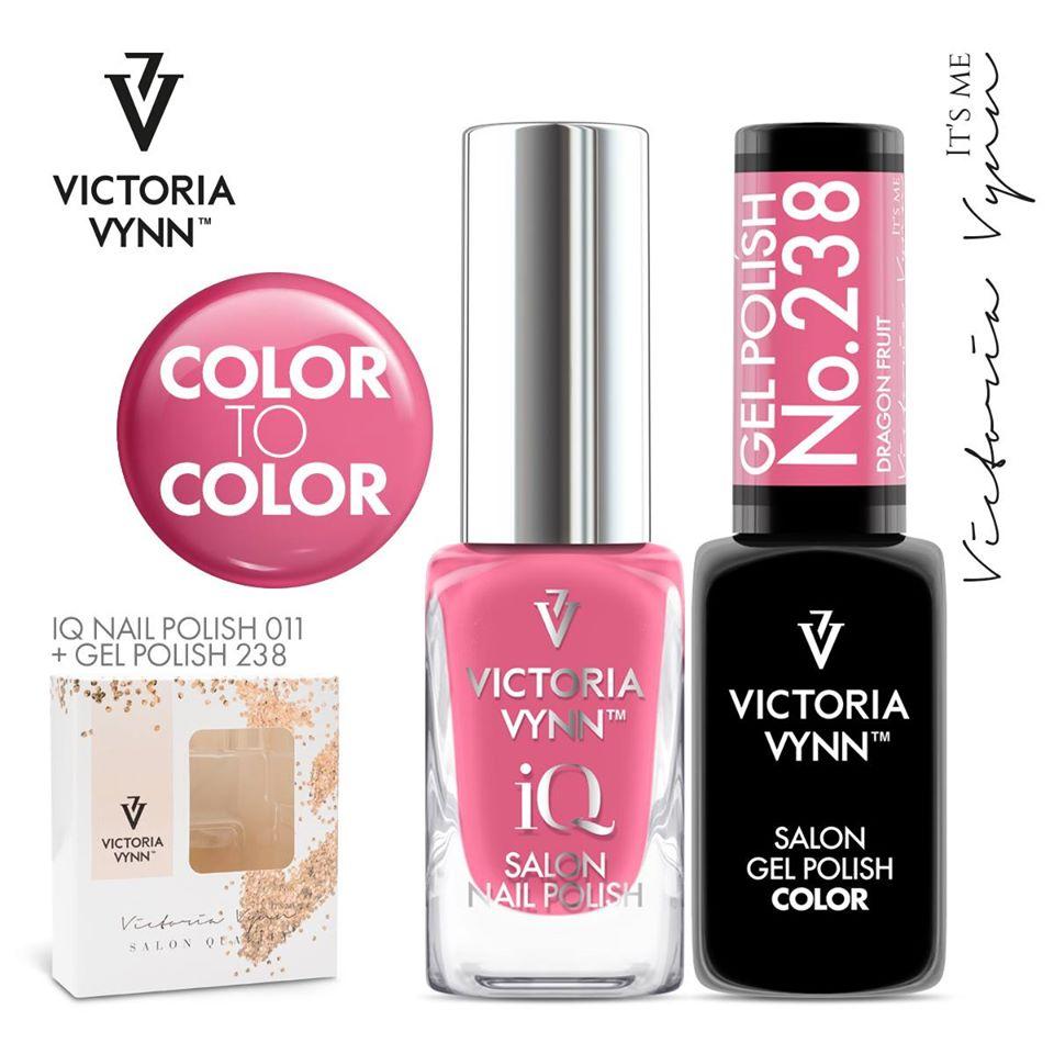 Conjunto Verniz iQ + Verniz Gel Victoria Vynn - 011