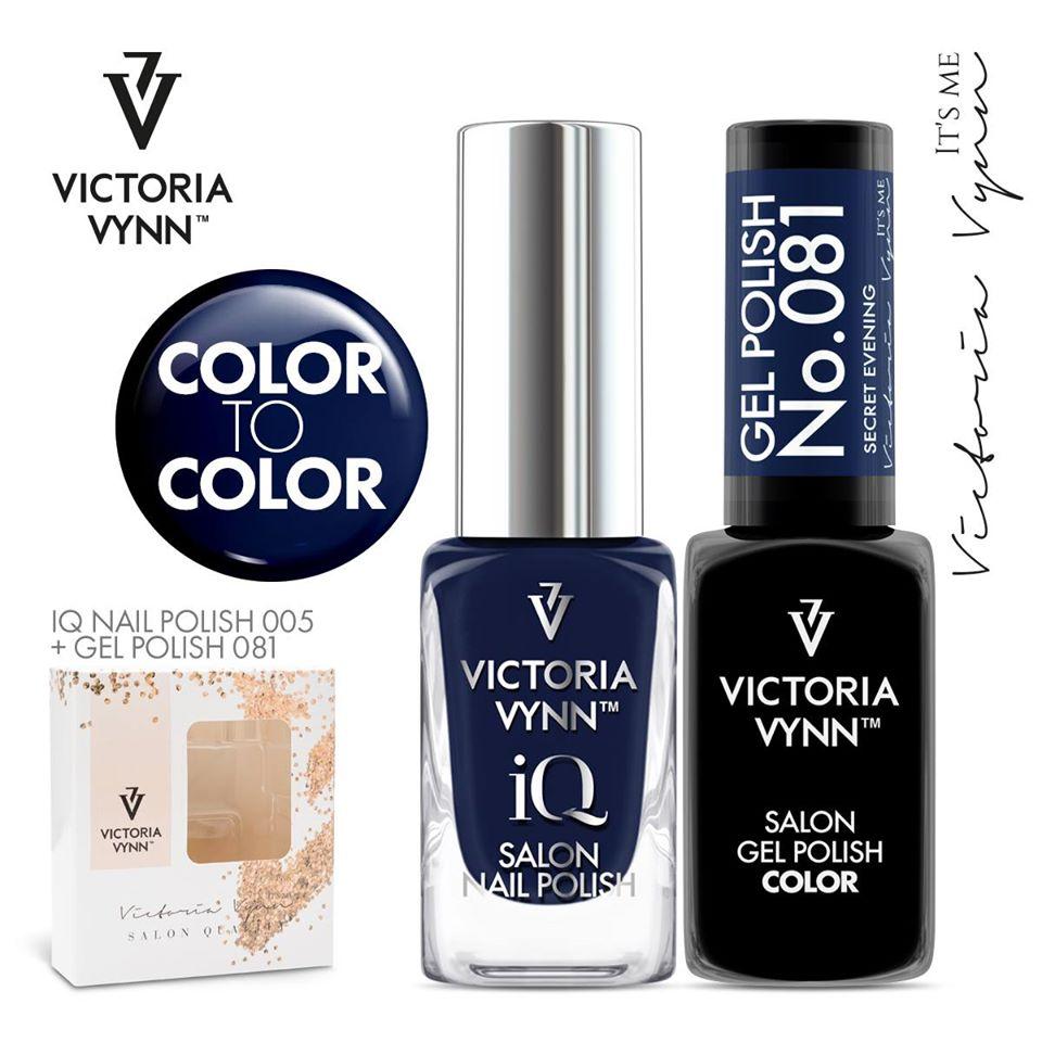 Conjunto Verniz iQ + Verniz Gel Victoria Vynn - 005