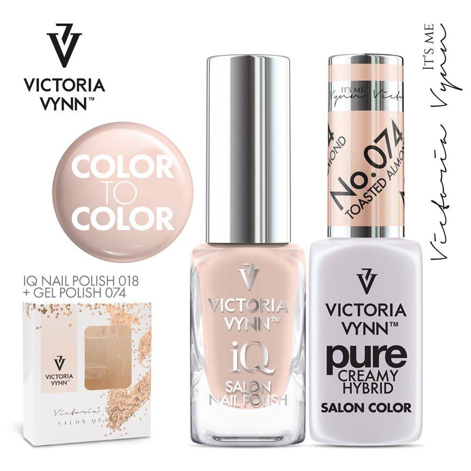 Conjunto Verniz iQ + Verniz Gel Victoria Vynn - 018
