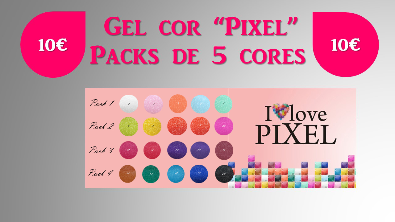"""Packs 5 Gel cor Silcare """"Pixel"""""""