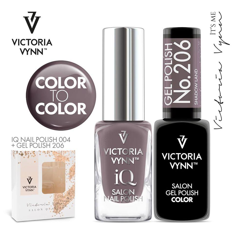 Conjunto Verniz iQ + Verniz Gel Victoria Vynn - 004