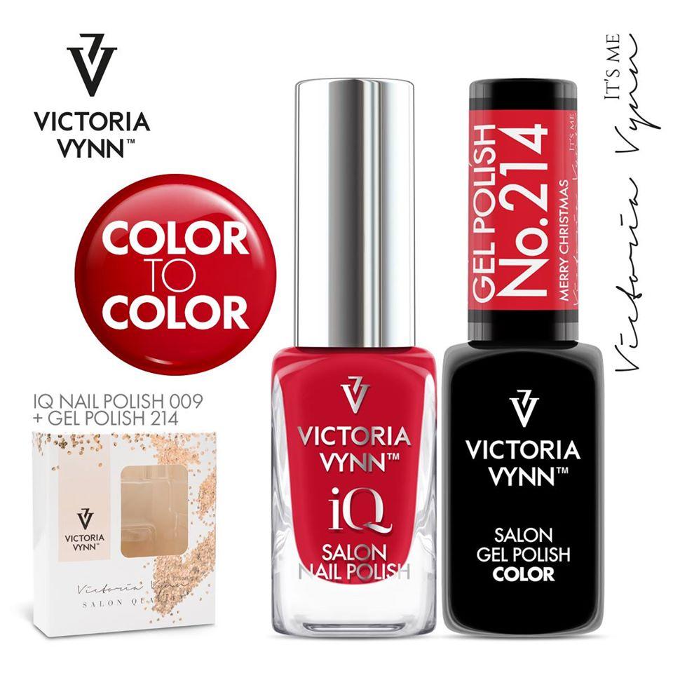 Conjunto Verniz iQ + Verniz Gel Victoria Vynn - 009