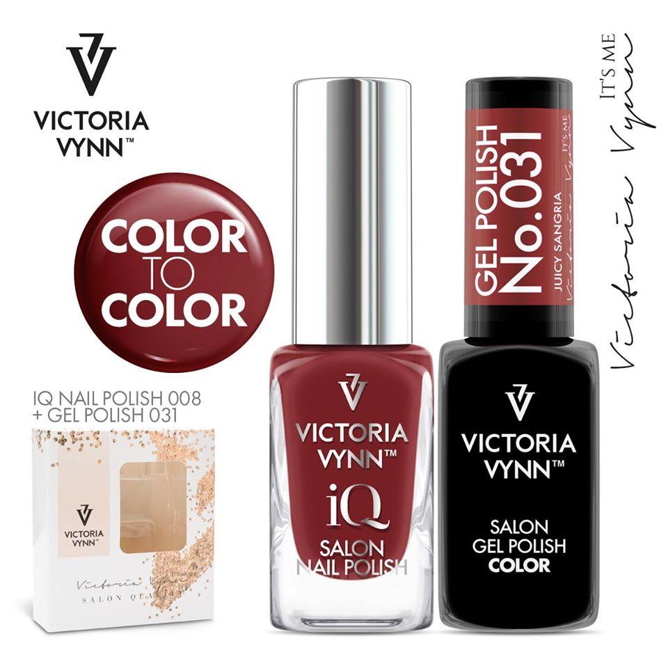 Conjunto Verniz iQ + Verniz Gel Victoria Vynn - 008