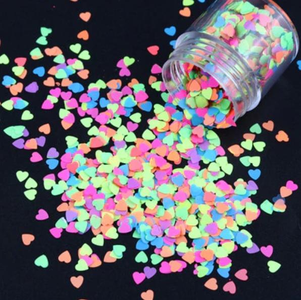 Confettis Hearts  Neon 10ml