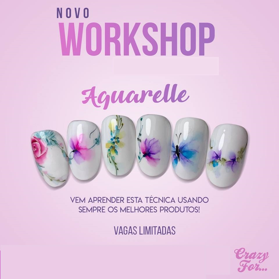 "Formação Nail Art ""Mix Aquarelle"""