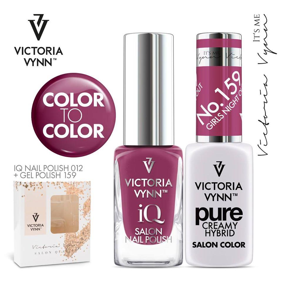 Conjunto Verniz iQ + Verniz Gel Victoria Vynn - 012