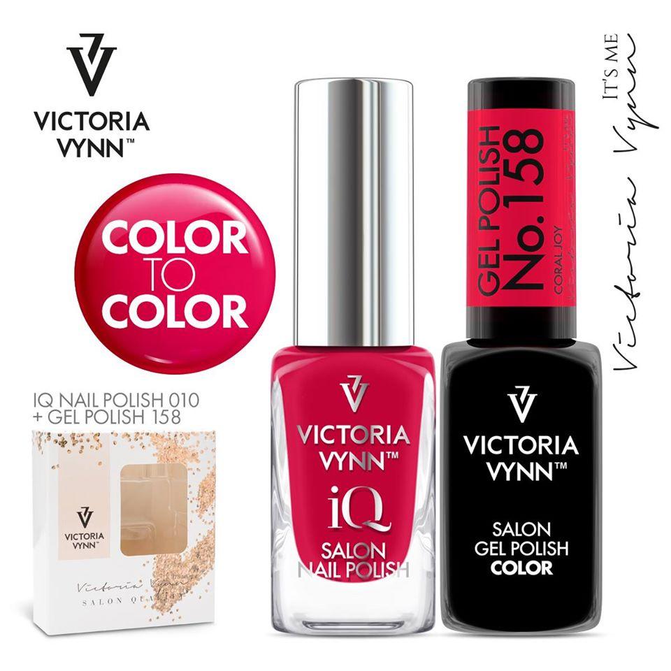 Conjunto Verniz iQ + Verniz Gel Victoria Vynn - 010