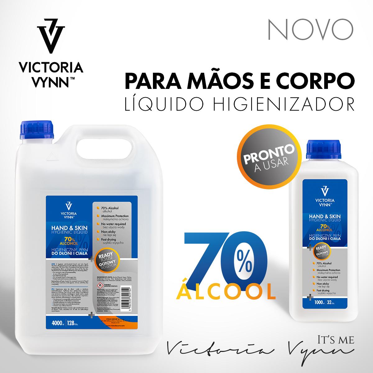Desinfectante líquido para mãos e superfícies Victoria Vynn