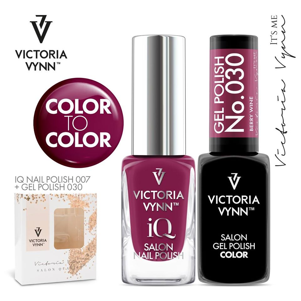 Conjunto Verniz iQ + Verniz Gel Victoria Vynn - 007