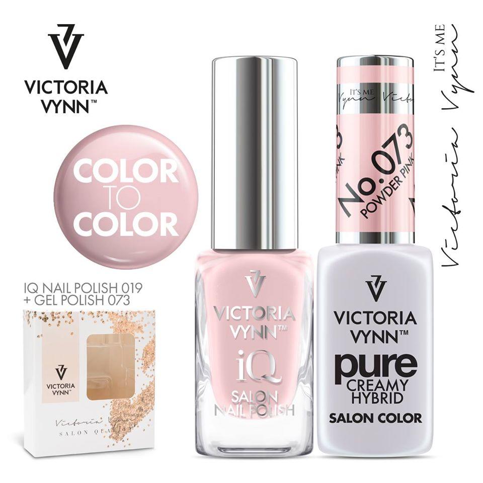 Conjunto Verniz iQ + Verniz Gel Victoria Vynn - 019