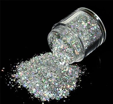 Glitter Mix Prata 10gr