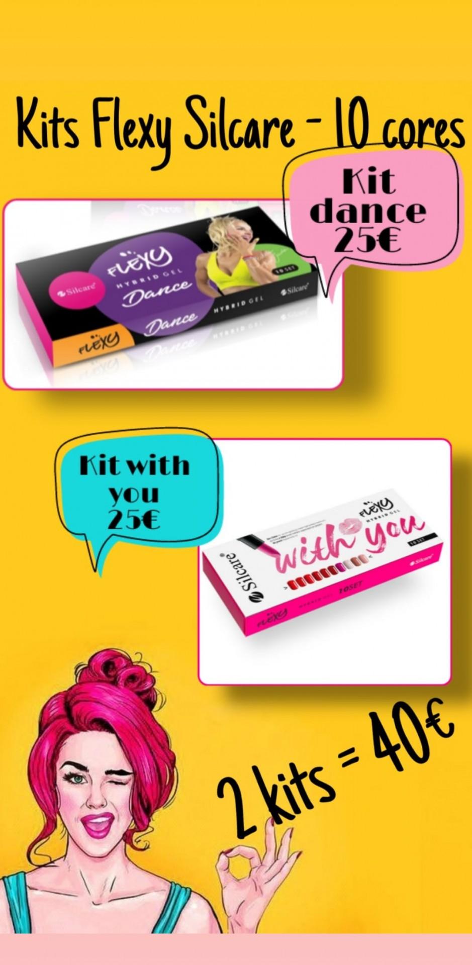 "2 Kits Flexy  - ""Dance"" e ""With You"""