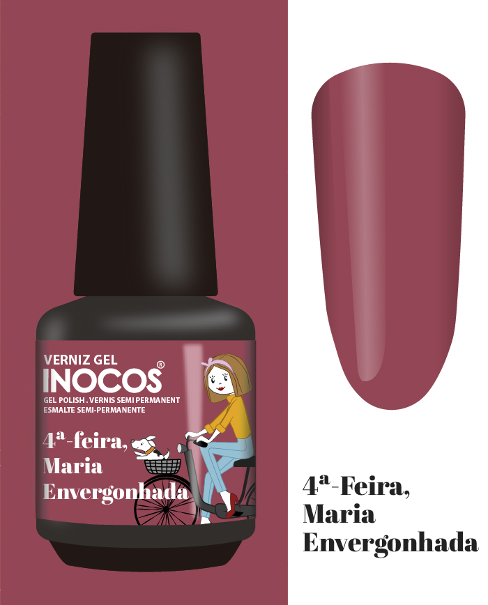 Verniz Gel Inocos - 4ª Feira - Maria Envergonhada (163)