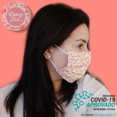 Máscara de tecido reutilizável - Certificada pelo Citeve