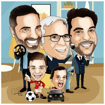 Caricatura de Grupo