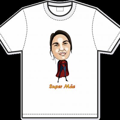 Caricatura em T-shirt Dia da Mãe