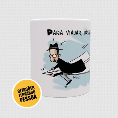 Canecas Fernando Pessoa - Viajar