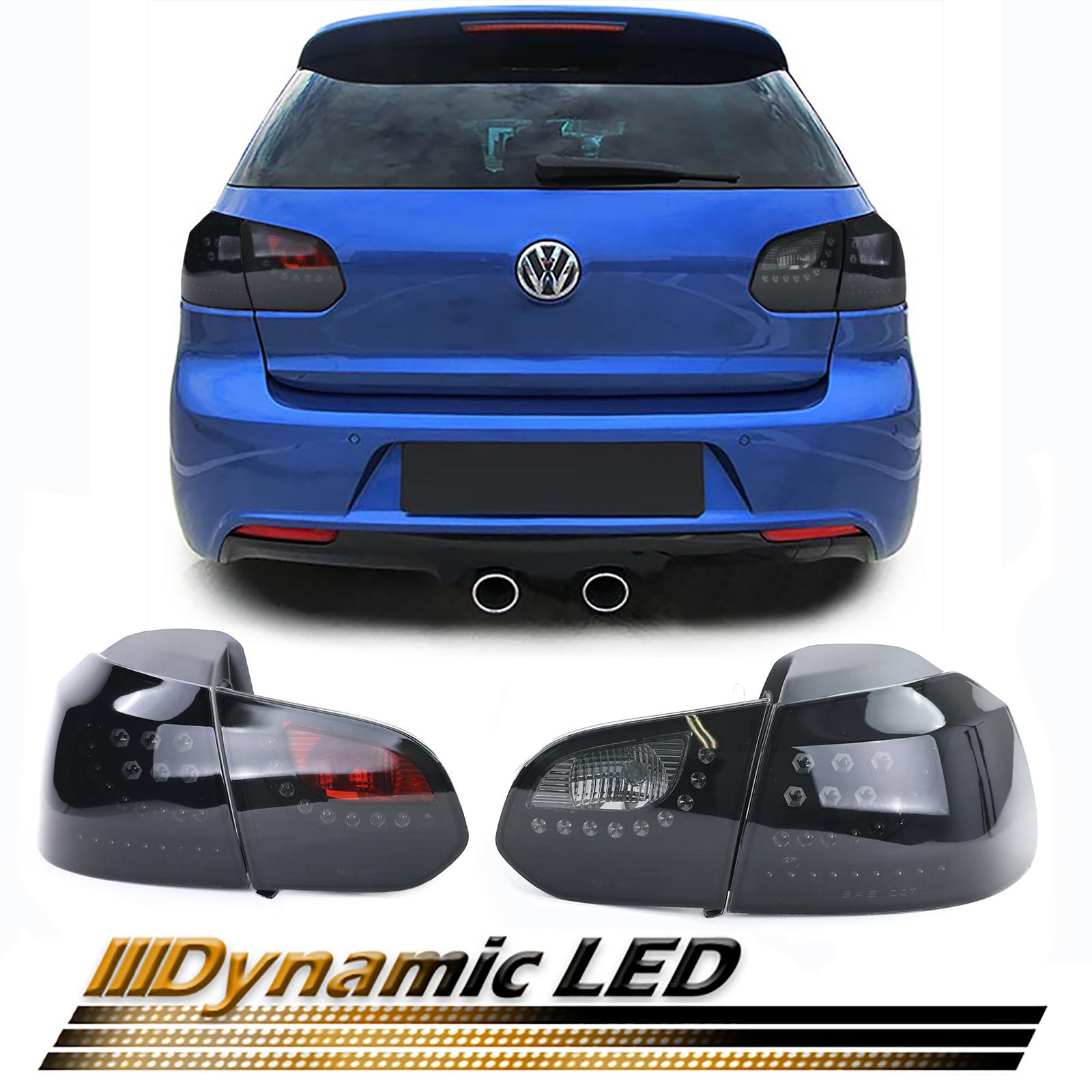 VW golf 6 farolins fumados led com pisca dinamico