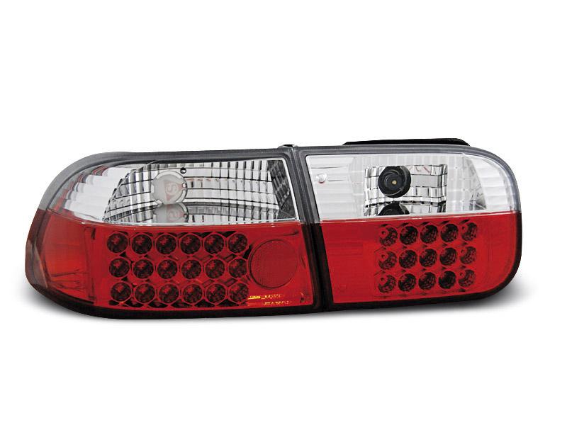 HONDA CIVIC 91-95  3 portas farolins cristal LED