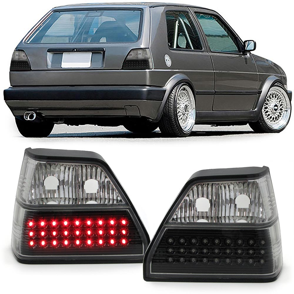 VW Golf 2 Farolins Led preto