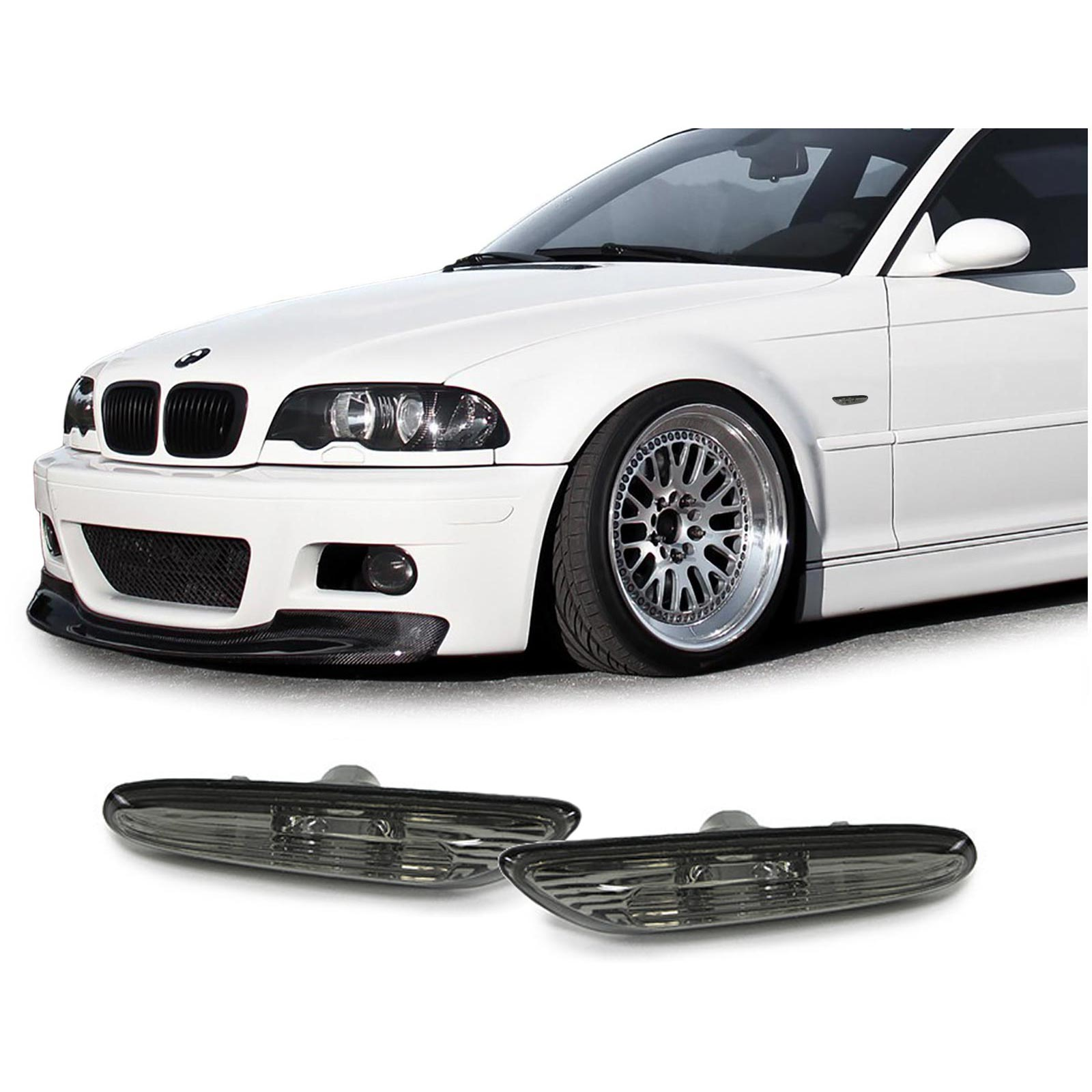 Piscas Laterais fumado BMW  E46 00-01  E60 E61 03-10 X3 E83 04-10