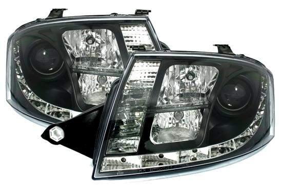 Audi TT 1ºmodelo Farois Led Diurnos preto