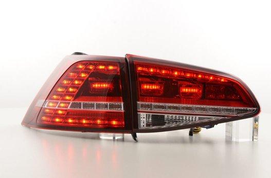 VW Golf 7 Farolins Led Vermelho Cristal