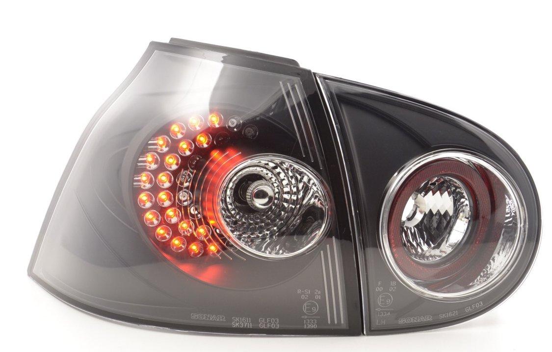 VW Golf 5 Farolins Preto LED