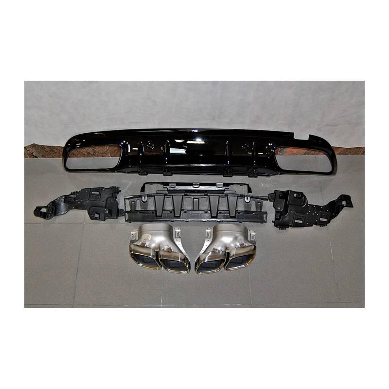 Difusor Traseiro Mercedes W205 2019 4P / SW Look C63 ABS