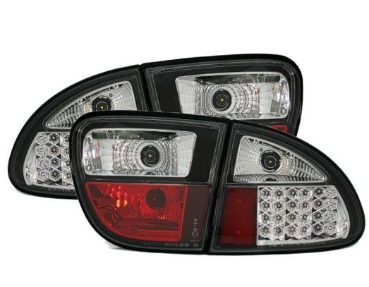 Seat Leon 1º modelo farolins cristal LED preto