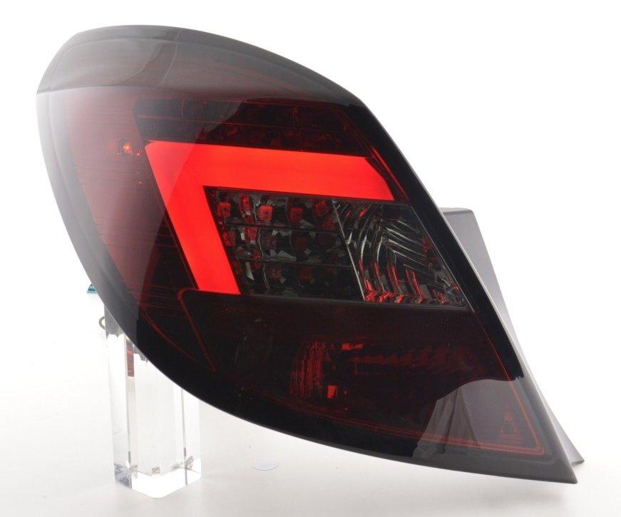 Opel Corsa D 2006-2010 5 portas Farolins LED BAR vermelho/cristal/fumado