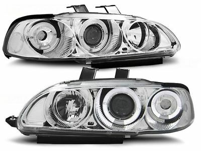 HONDA CIVIC 09.91-08.95 2/3 portas  Farois ANGEL EYES Cromado