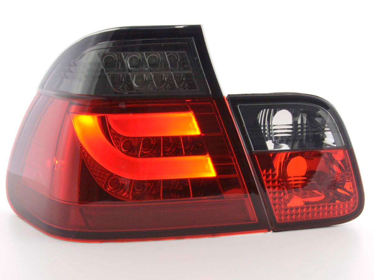 BMW E46 98-2001 4p. Farolins LED Bar Vermelho - Fumado