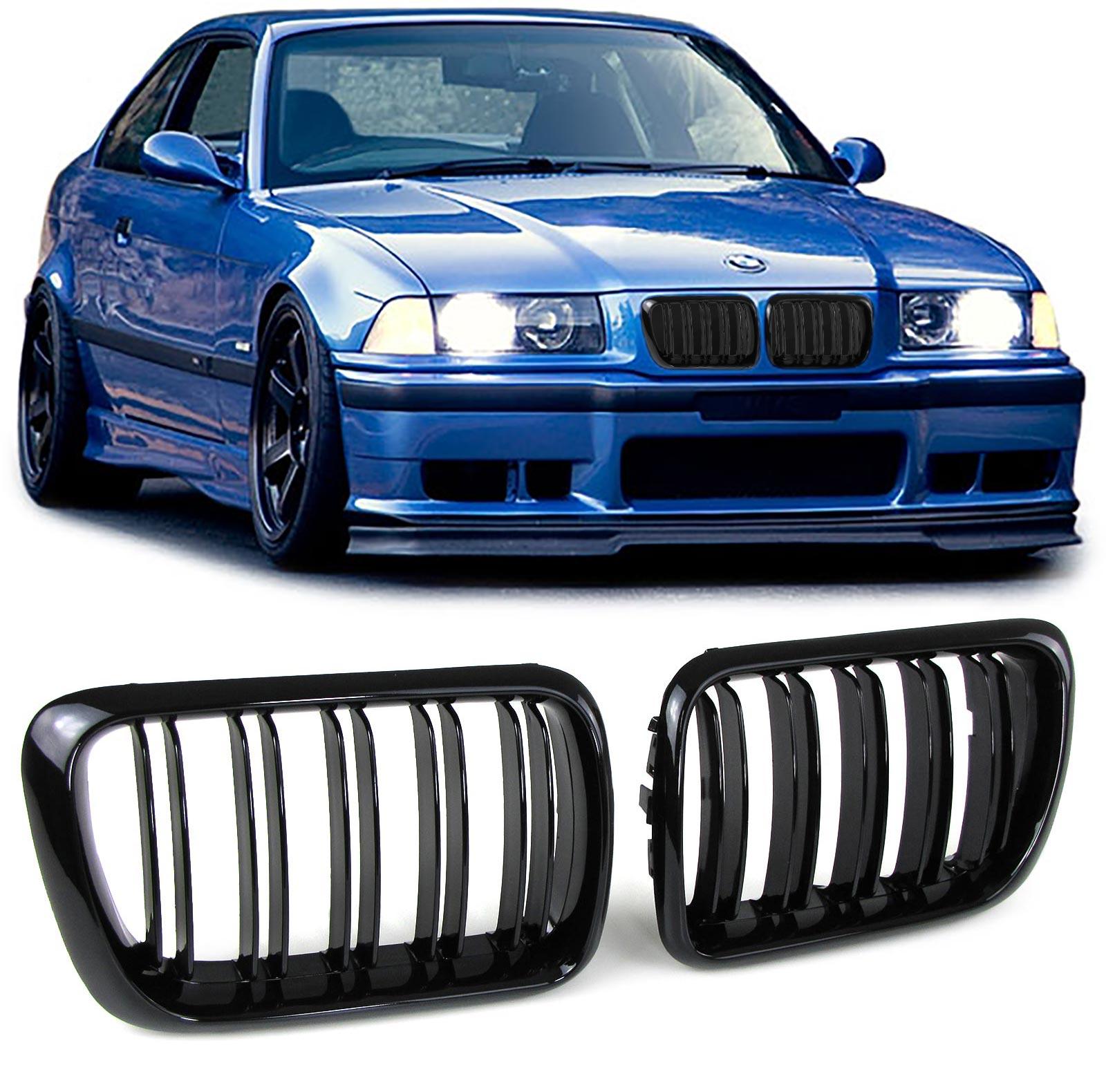 Grelha BMW E36 Preto dupla 96-98
