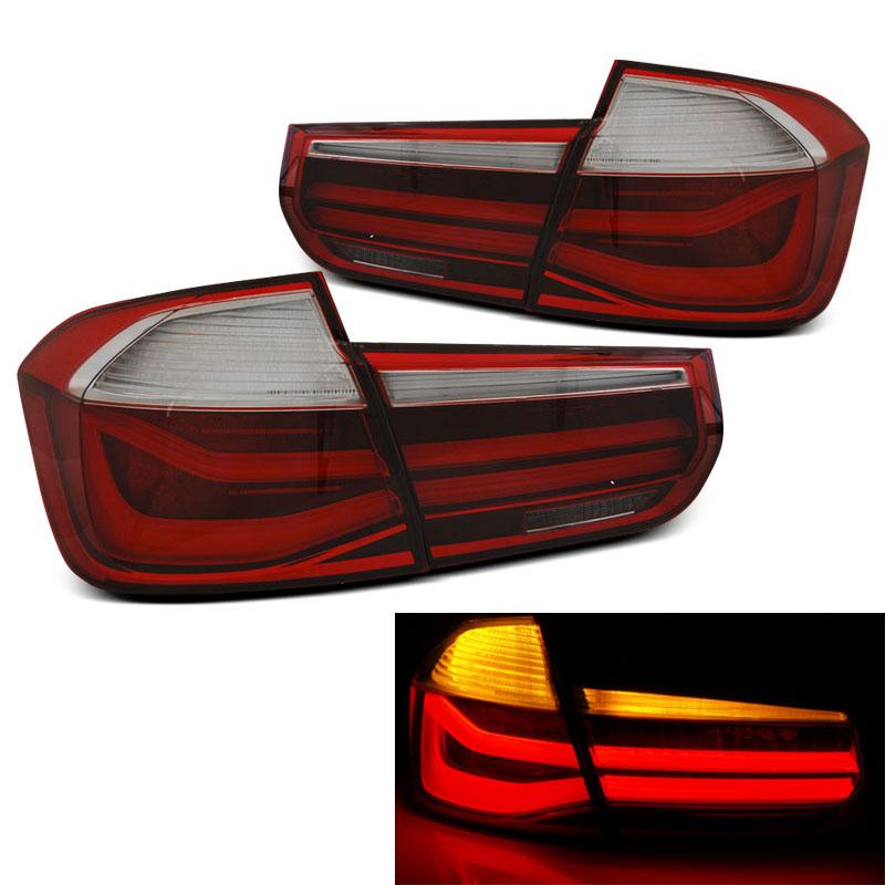 Farolins BMW F30 2011-2014 LED BAR vermelho - branco
