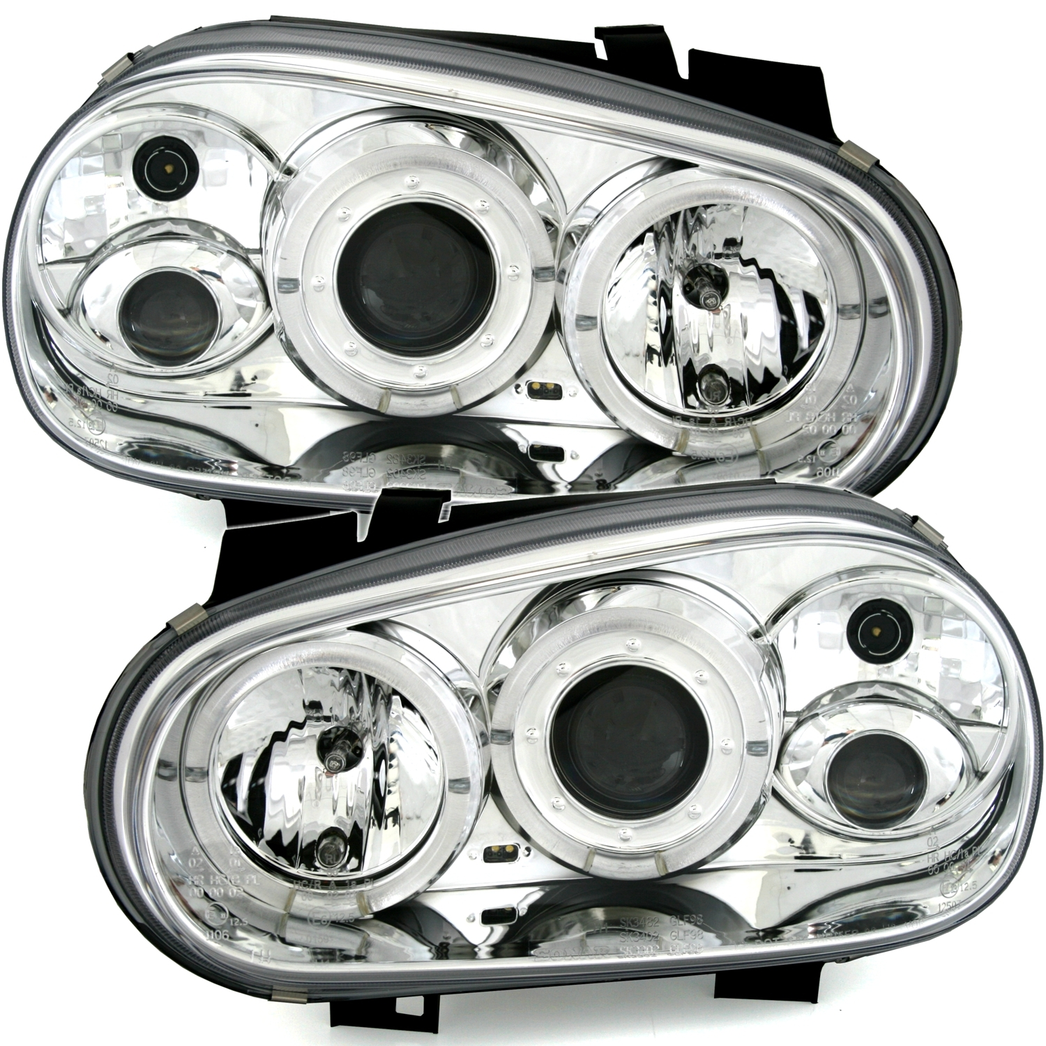 VW GOLF 4 09.97-09.03 ANGEL EYES CCFL cromado