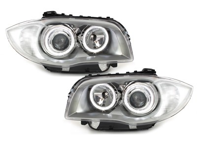 BMW E81/E87 Farois Angel Eyes led cinza claro