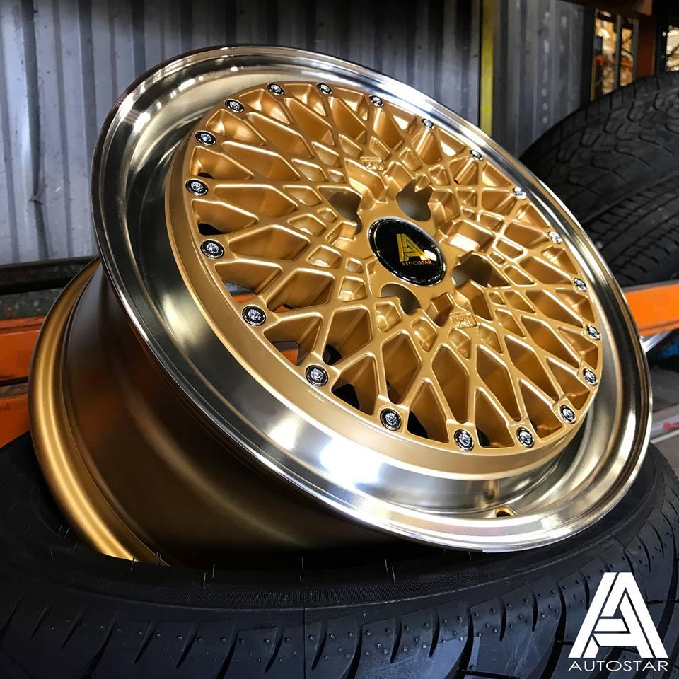 AUTOSTAR MINUS 15X7.5 4X100 ET25 GOLD