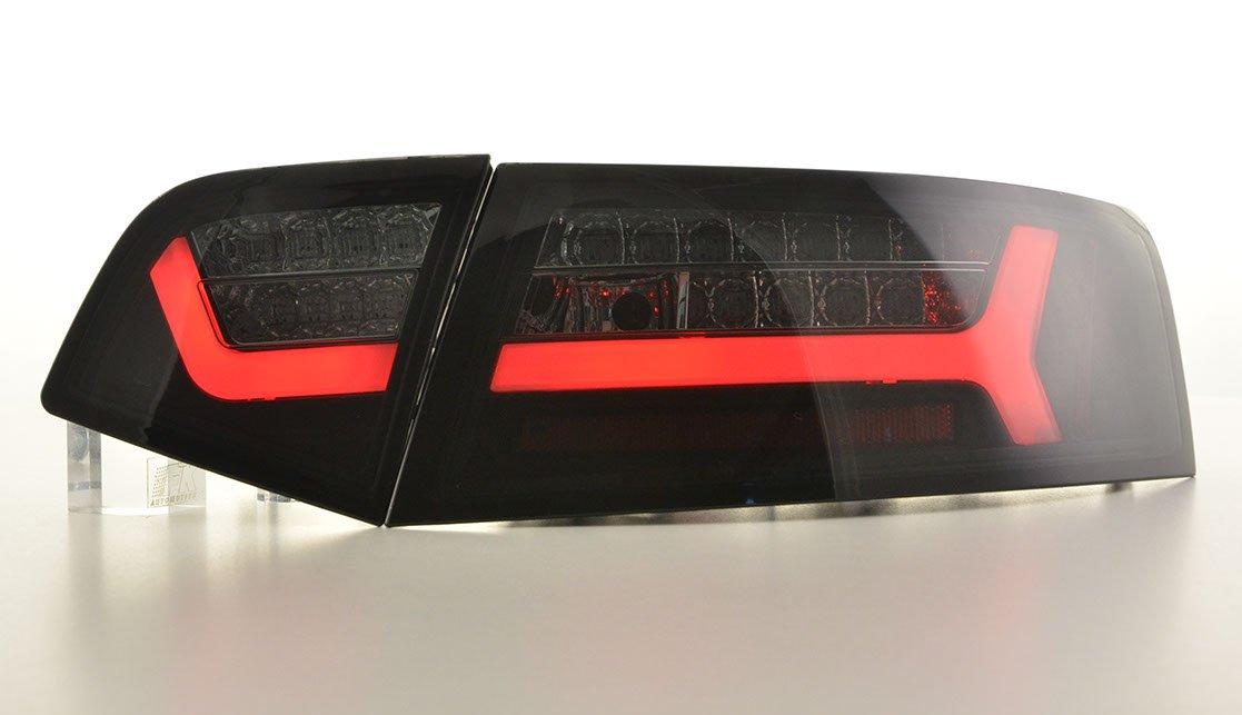 Audi A6 2008-2011 Farolins Cristal LED BAR fumado