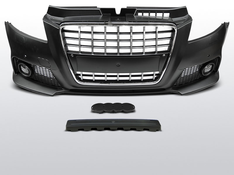 Parachoques Audi A3 8P look S8 grelha cromado