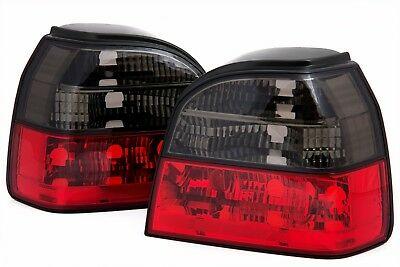 VW Golf 3 Farolins cristal vermelho-fumado