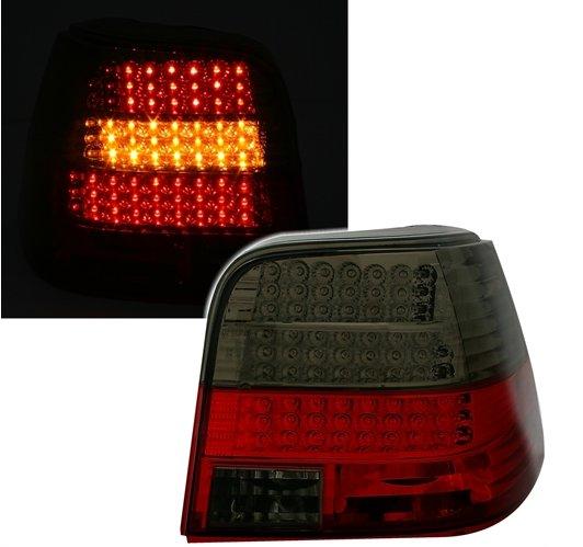 VW Golf 4 Farolins LED Vermelho Fumado
